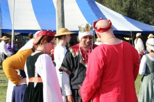Their Excellencies at Rowany Festival 2013, chatting to their Northern Cousin