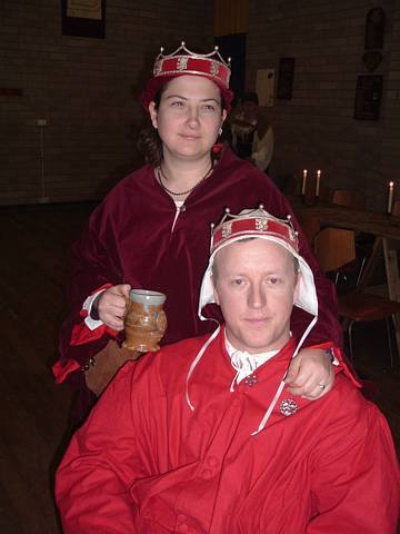 Baroness Mistress Leta von Goslar and Baron Edmund Ale-conner, fourth Baron and Baroness. Photo courtesy of Alexandra Hartshorne